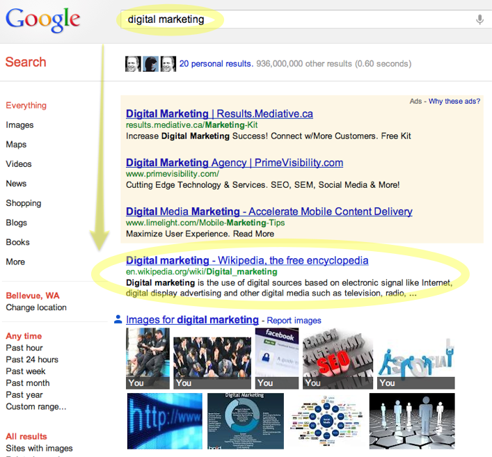 Digital Marketing Search Results