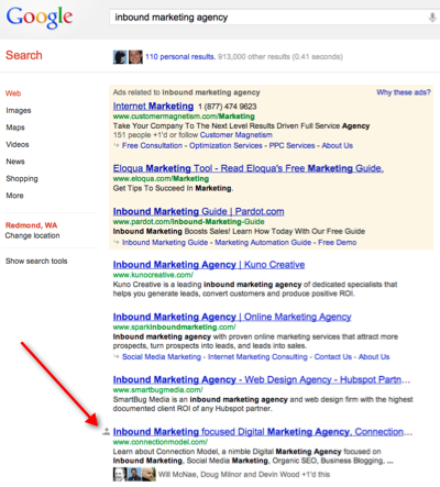 Google Inbound Marketing Agency Search Results 400px