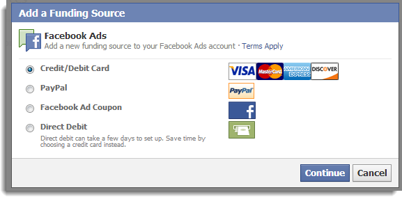 Facebook Funding Source