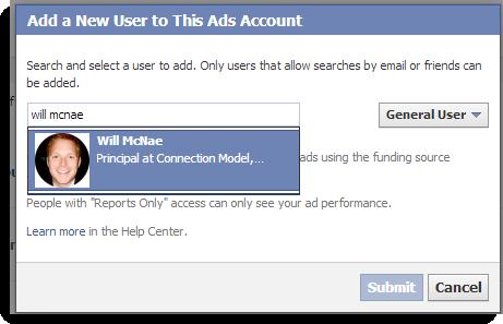 Facebook Add New User